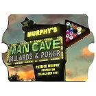 Vintage Personalized Billiards Marquee Man Cave Wood Sign