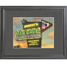 Personalized Marquee Man Cave Framed Print