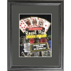 Personalized Marquee Poker Parlor Nighttime Framed Print