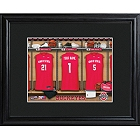 Personalized College Basketball Locker Room Prints with Wood Frame