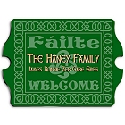 Vintage Personalized Celtic Green Irish Family Signs