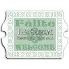 Vintage Personalized Irish Linen Family Signs
