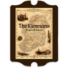 Vintage Personalized Irish Map Wood Family Signs