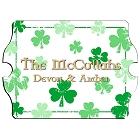 Vintage Personalized Raining Clovers Irish Family Signs
