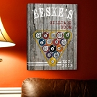 Personalized Billiards Gallery Wrapped Canvas Print