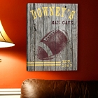 Personalized Football Gallery Wrapped Canvas Prints