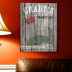 Personalized Golf Gallery Wrapped Canvas Print