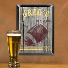 Personalized Traditional Football Man Cave Pub Signs