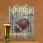 Personalized Vintage Football Man Cave Pub Signs