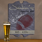 Vintage Personalized Football Tavern Signs