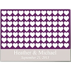 Heartfull Wishes Personalized Guestbook Wall Canvas