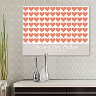 For the Love of Hearts Personalized Guestbook Wall Canvas