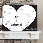 Shadow of Love Personalized Guestbook Wall Canvas