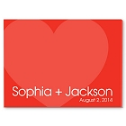 Love For Ever Personalized Guestbook Wall Canvas