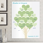 Branches of Love Personalized Guestbook Wall Canvas