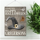 Personalized Halloween Hanging Canvas Prints
