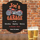 Motorcycle Garage Personalized Wall Sign