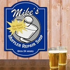 Muffler Repair Shop Personalized Wall Sign