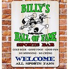 Football Hall of Fame Sports Bar Personalized Wall Signs