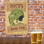 Bass Club Fishing Personalized Metal Wall Signs