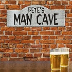 Personalized Man Cave Wall Sign