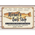 Bait Shop Personalized Metal Wall Sign