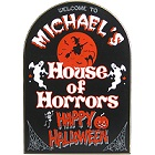 Personalized House of Horrors Halloween Wood Signs