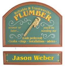 Plumber Personalized Wood Sign