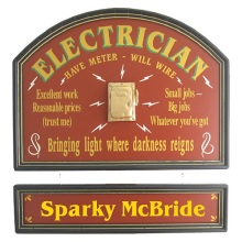 Electrician Personalized Wood Sign