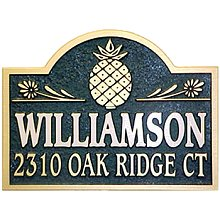 Sandblasted Pineapple House Address Plaque