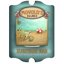 Vintage Personalized Surfside Bar Signs