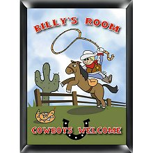 Personalized Cowboy Room Sign