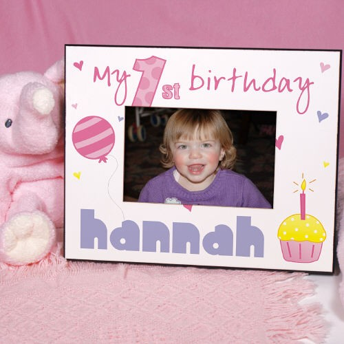 Baby Girl 1st Birthday Printed Picture Frames