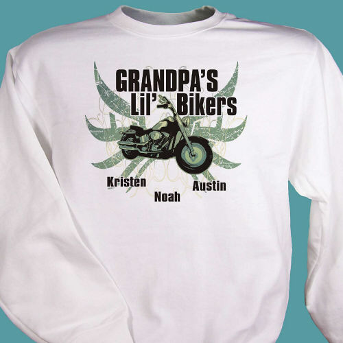 Lil Bikers Personalized Motorcycle Sweatshirts