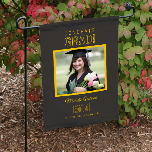 Class of 2015 Personalized Graduation Photo Garden Flags