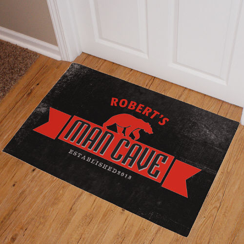 Man Cave Personalized Bear Doormats