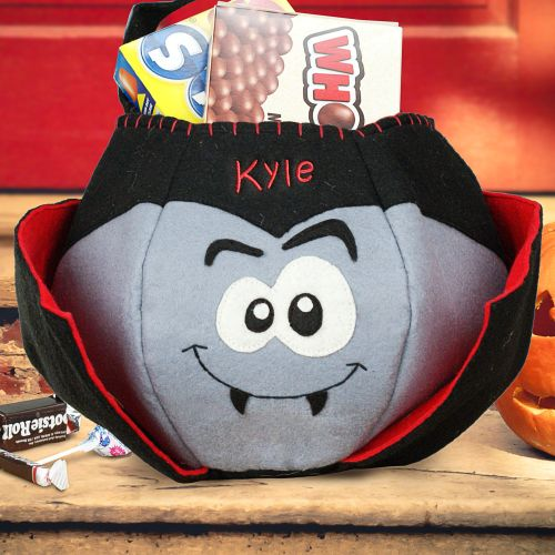 Personalized Dracula Halloween Trick or Treat Bags