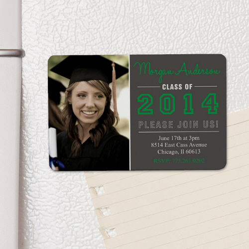 Class of 2015 Personalized Graduation Photo Invitation Magnet