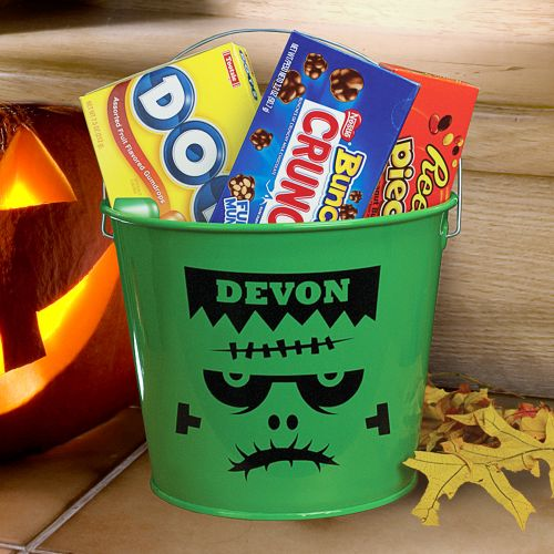 Frankenstein Personalized Halloween Candy Buckets