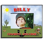 Personalized Cowboy Boys Picture Frames