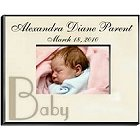Personalized Baby Parchment Picture Frames