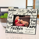 Dad in Translation Personalized Parchment Picture Frames
