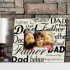 Dad-Father Parchment Personalized Wood Picture Frames