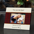 Personalized Plaid and Parchment Fathers Day Picture Frames