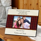 Plaid and Parchment Personalized Fathers Poem Picture Frames