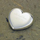 Engraved Silver Plated Heart Paperweight