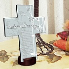 Faith and Flower Personalized Cross