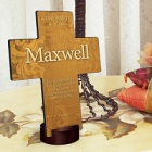 Gardens of Grace Personalized Cross