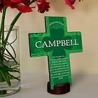 Irish Blessings Shamrock Personalized Cross