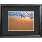 Personalized Sparkling Sands Memorial Print with Wood Frame
